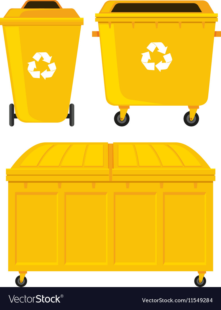 Trashcans in three different designs vector