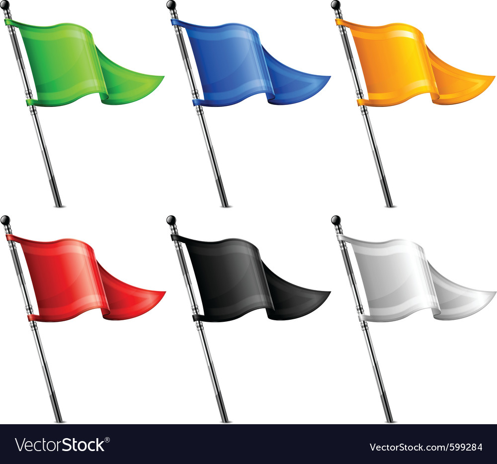 Triangle flags vector