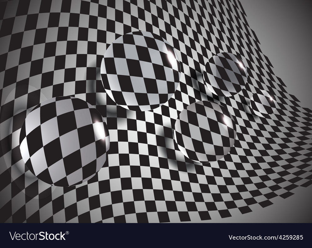 Abstract glass balls on a chessboardeps10 vector