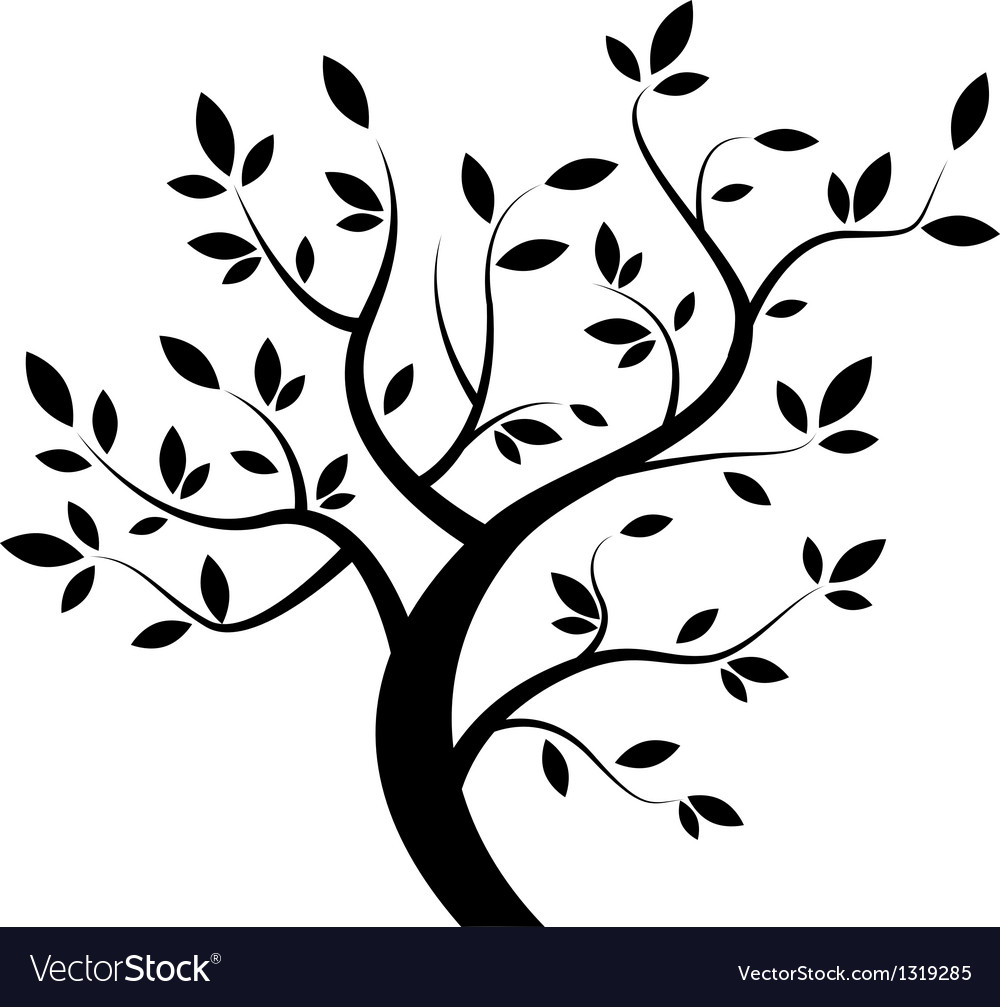 Black tree vector