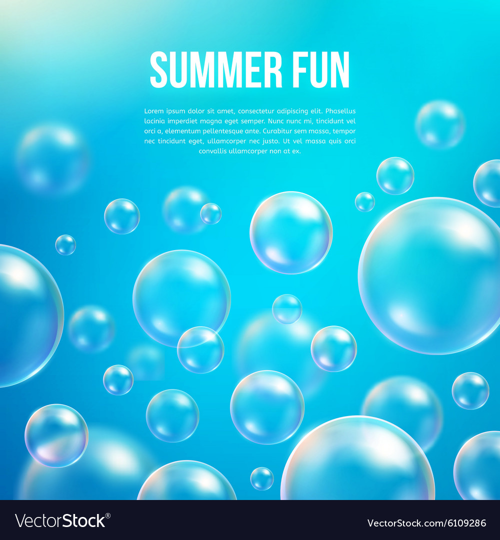 Abstract soap bubbles background vector