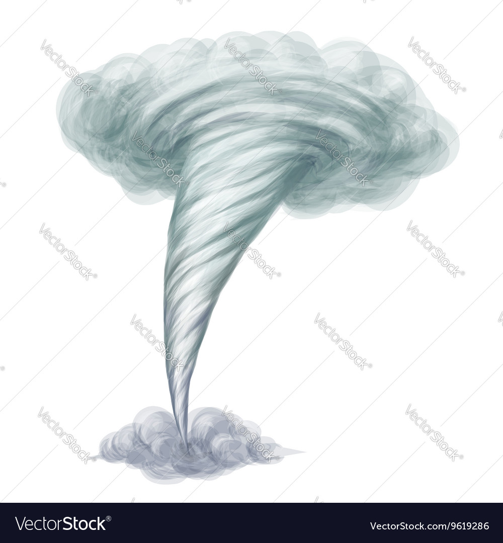 Cartoon style hand drawn tornado vector