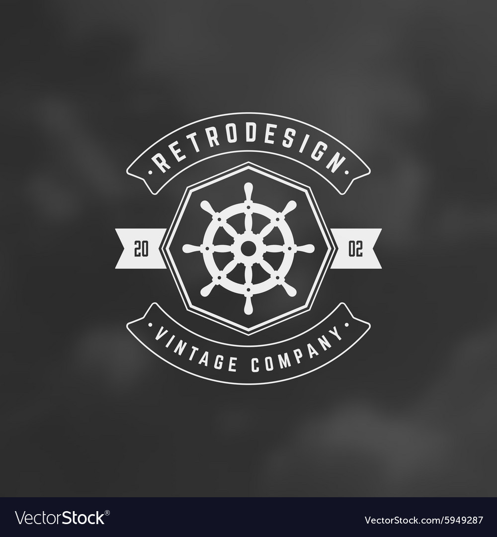 Nautical retro vintage insignia logotype vector