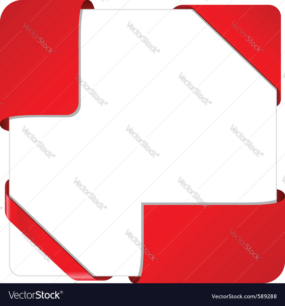 Corner ribbons vector