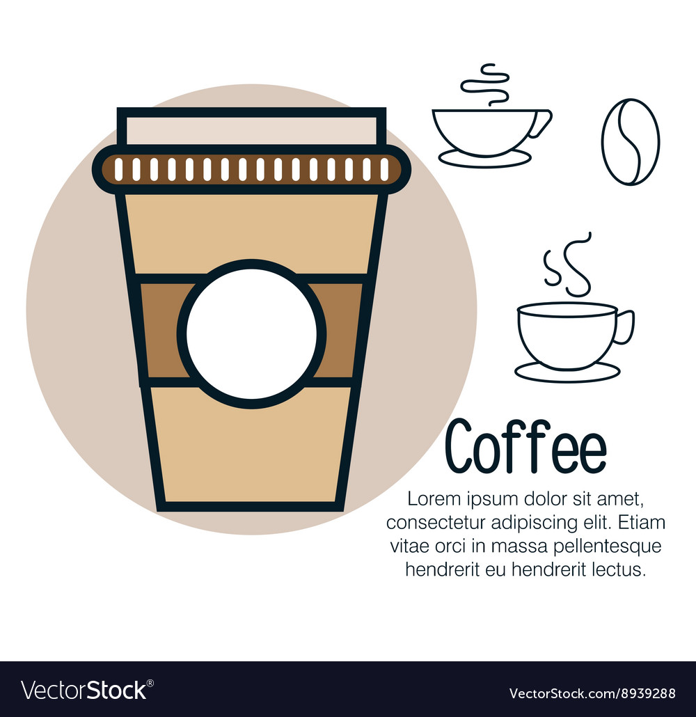 Line coffee design vector