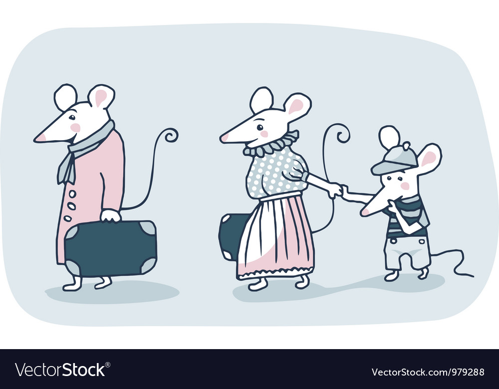 Mice family vector