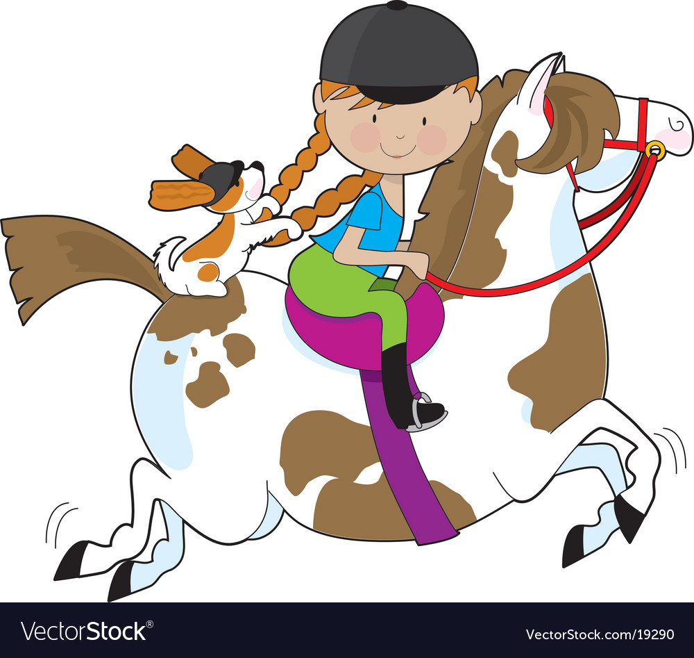 Horsey holly vector