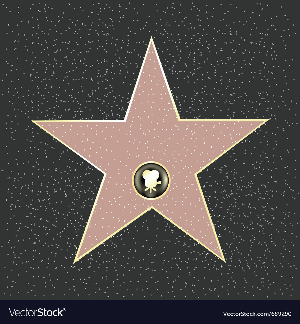 Walk of fame vector