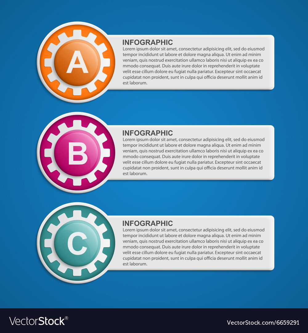 Color gears infographics options banner vector