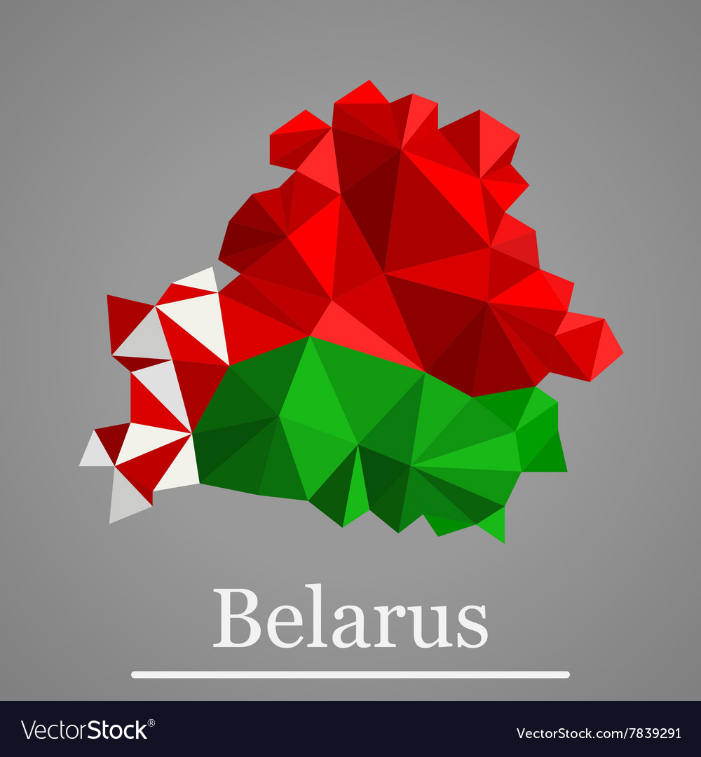 Geometric map of belarus vector