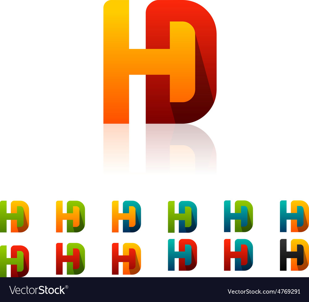 Hd logo vector