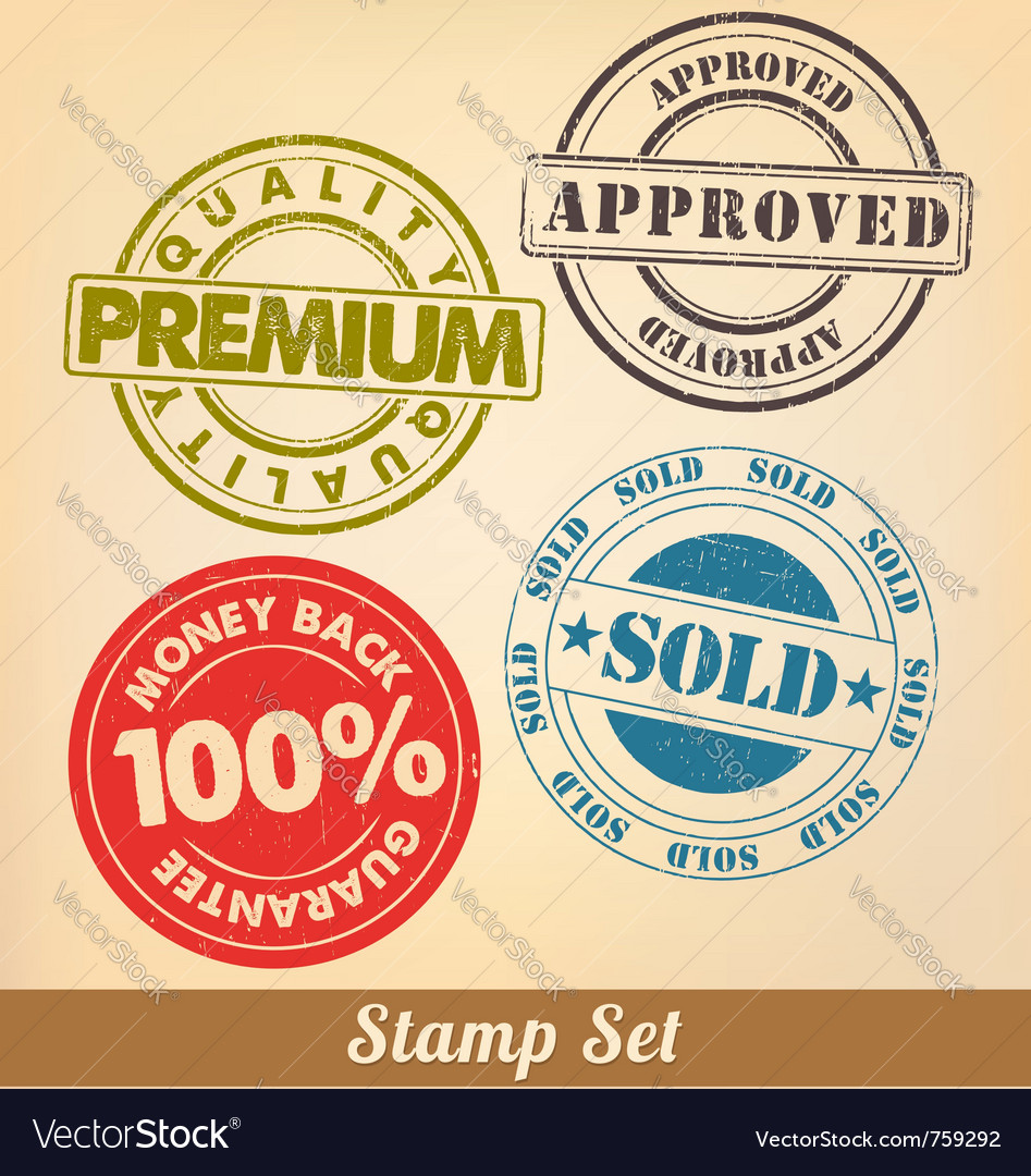 Stamp set vector