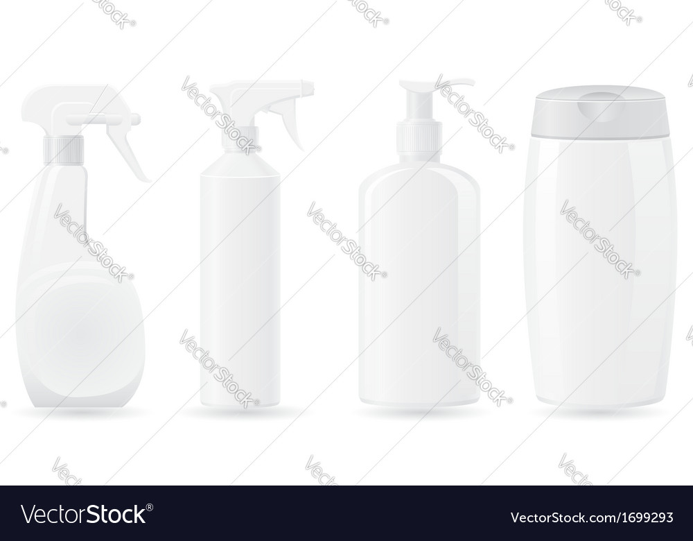 Plastic bottle 05 vector