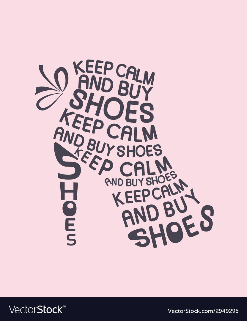Shoe from quote vector