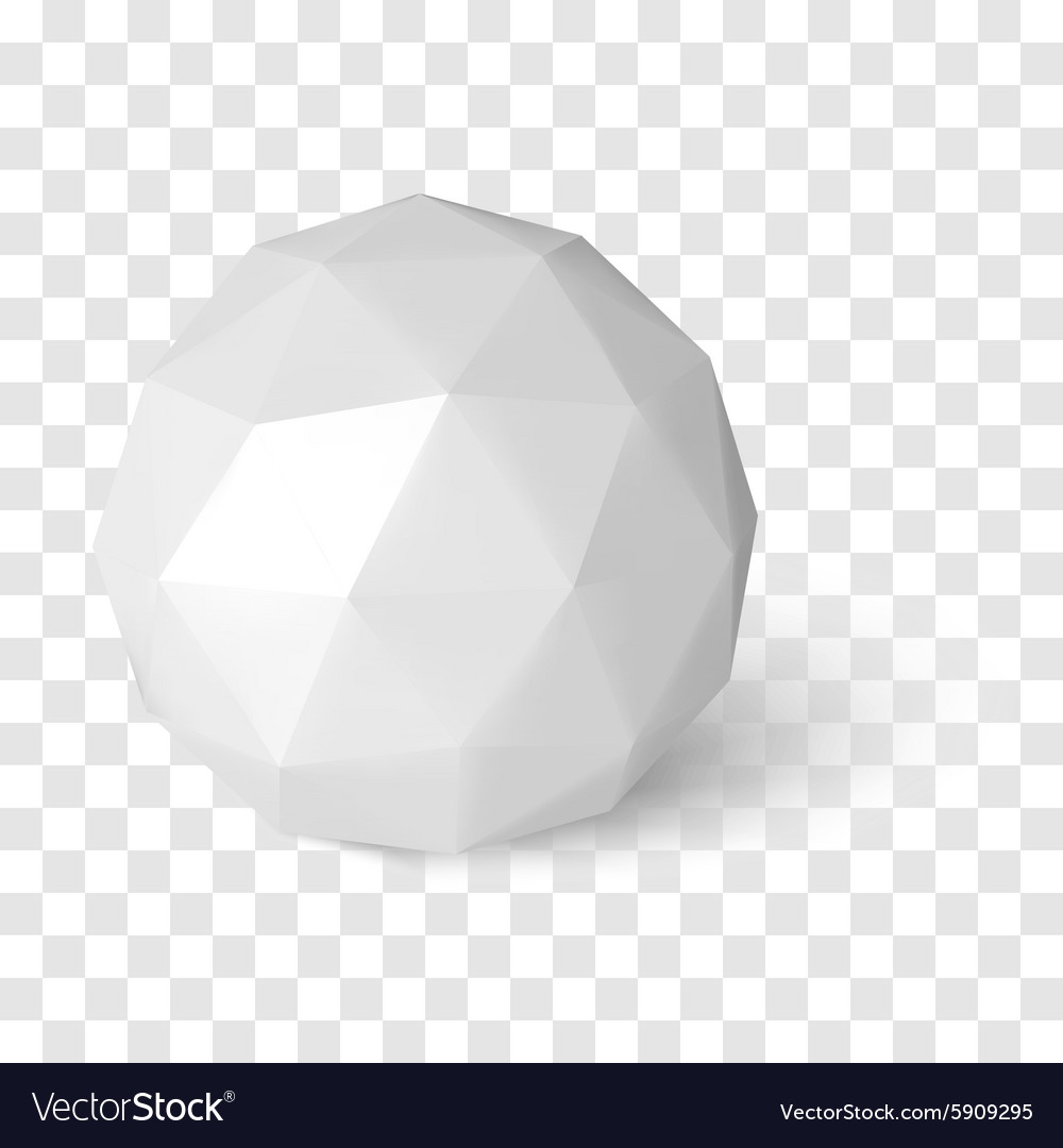 Sphere on transparency background low poly object vector