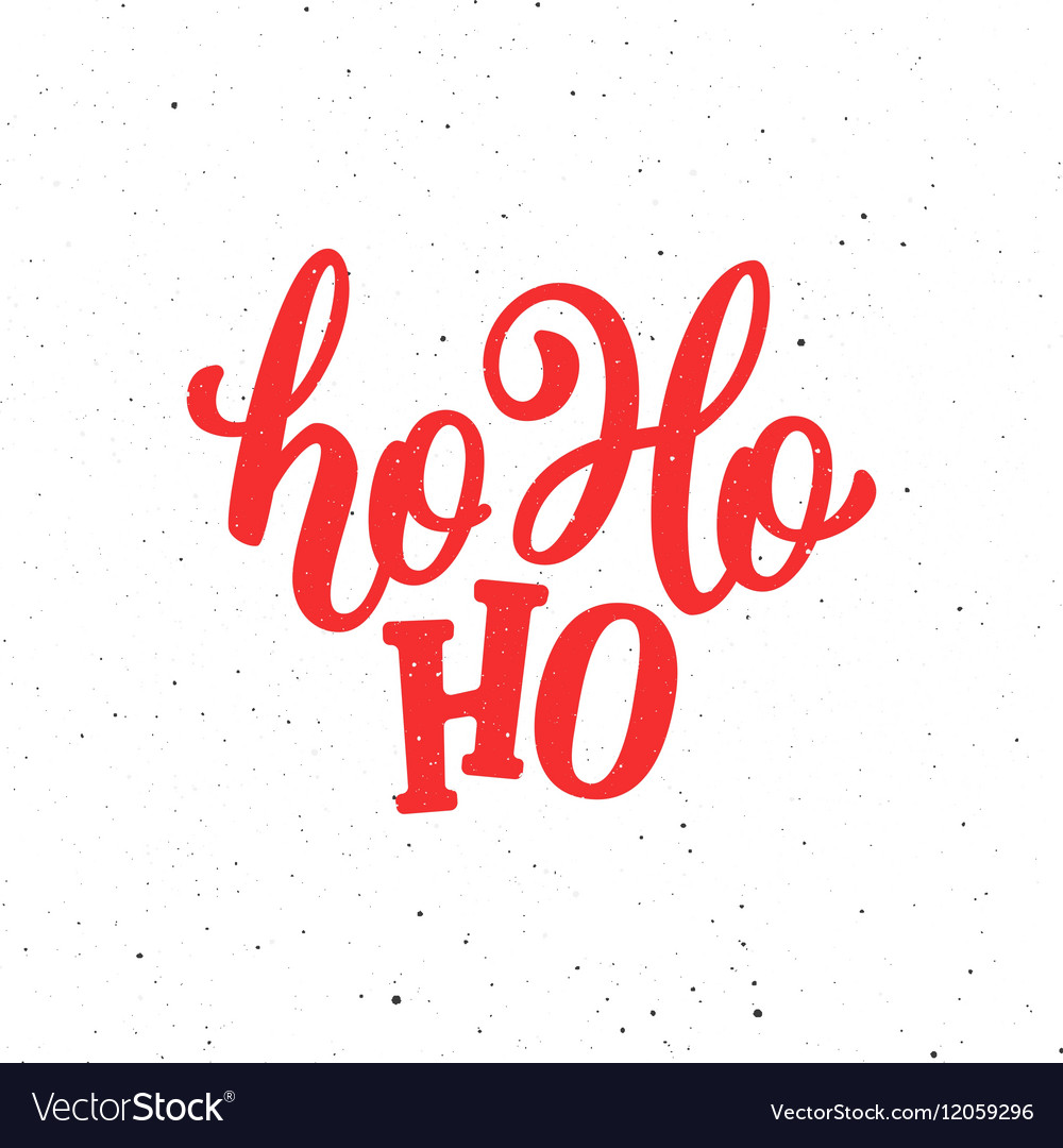 Hohoho christmas greeting card vector