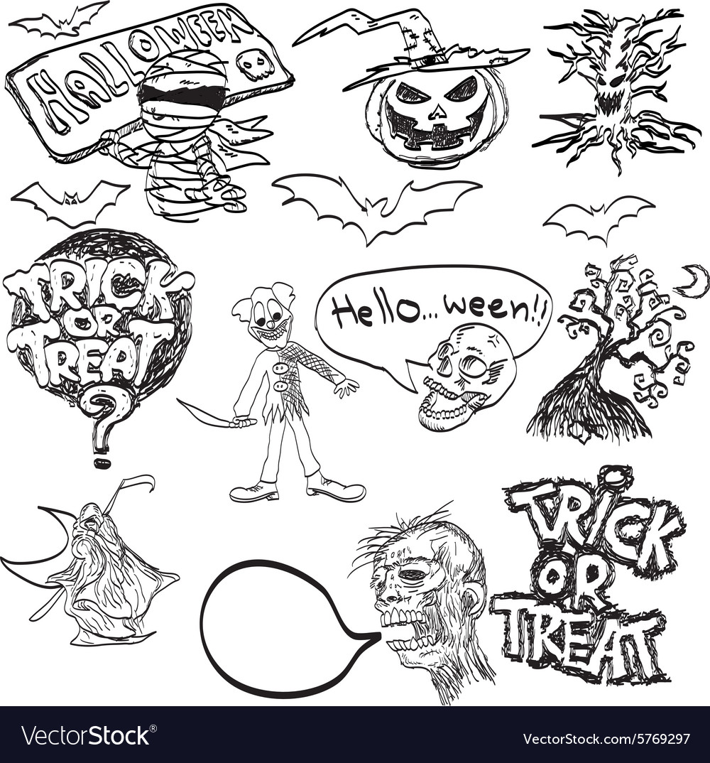 Halloween icon set vector