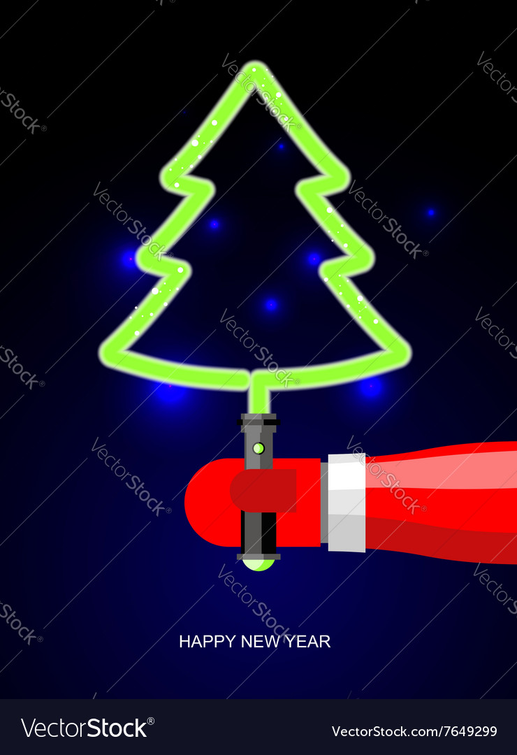 Light green christmas tree lightsaber in form of vector