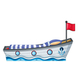 Ship shaped bed vector image vector image