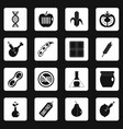 gmo icons set squares vector image