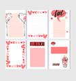 hand drawn abstract creative valentines day vector image