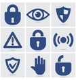 security icons vector image vector image