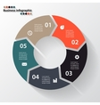 Circle arrows for your info graphic vector image