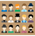 Set of Flat Icons with Man Characters vector image