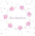 Background for invitation cart with flowers lotus vector image