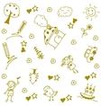 Childs happy doodle art vector image