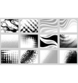 monochrome backgrounds vector image vector image