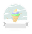 bright and tasty ice cream vector image