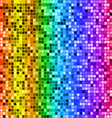 Bright rainbow colored rectangle mosaic seamless vector image
