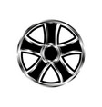 drive car wheel with black pattern and gradient vector image