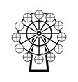 Ferris wheel black simple icon vector image