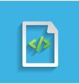 file program flat icon vector image
