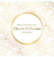 invitation or greeting card with holly berries and vector image