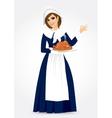 pilgrim woman vector image
