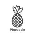 pineapple minimal sign design vector image