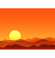 Red desert bright sunrise vector image