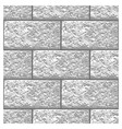 white marble brick seamless pattern vector image
