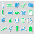 hygiene theme modern simple color stickers icons vector image