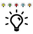 lightbulb technology set vector image
