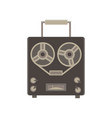 Recorder audio retro icon player vintage vector image