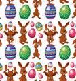 An Easter seamless design vector image vector image