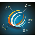 3d Symbol business communication network vector image