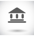 Home flat icon 2 vector image vector image