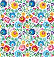 Seamless Polish folk art floral pattern vector image