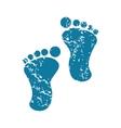 Footprint grunge icon vector image