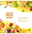 Healthy Fruits Background Banner vector image